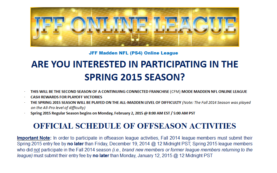 JFF Spring 2015 Recruitment Page